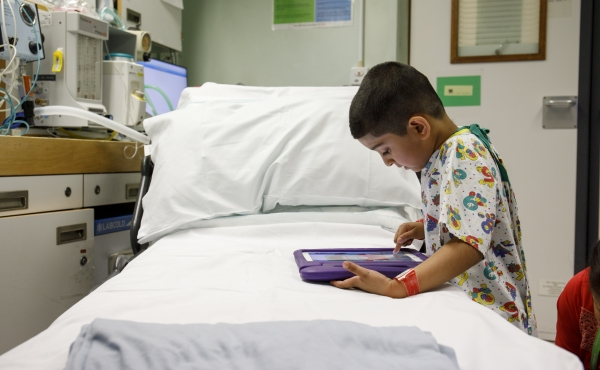 Photo of child in hospital